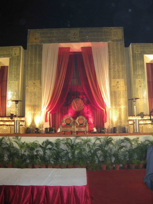 Wedding stage in Jaipur