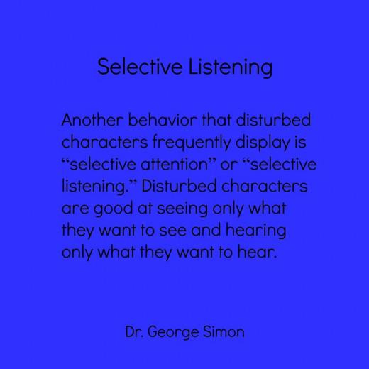 Selective listening