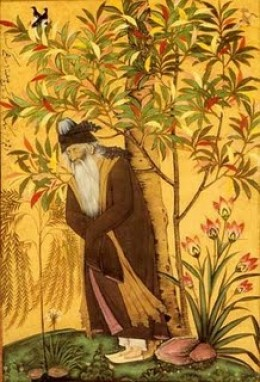 A painting of Rumi