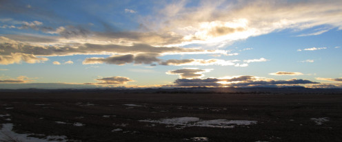 December Sunset in Claresholm, Alberta