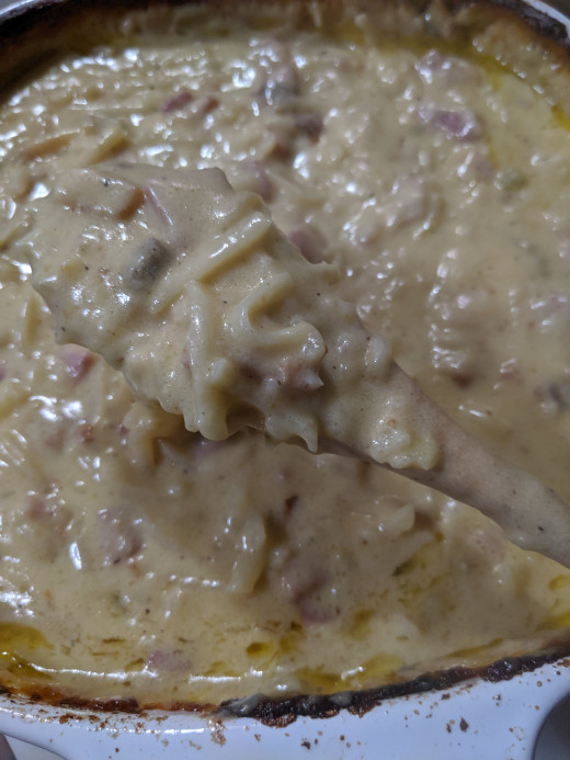 See how thick it is becoming, thick and creamy as it merges