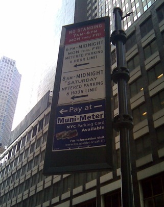 New York City parking sign / E. A. Wright 2009