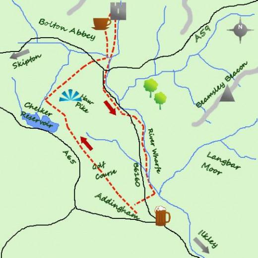 Walk map courtesy of Walk2walk