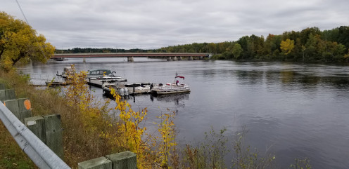 View of the Lady Aberdeen Bridge on the Gatineau River