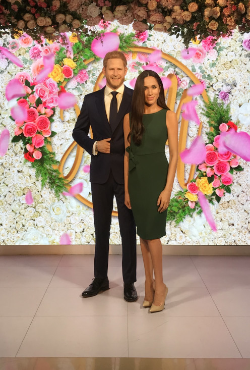Prince Harry and Meghan Markle at Madame Tussauds London