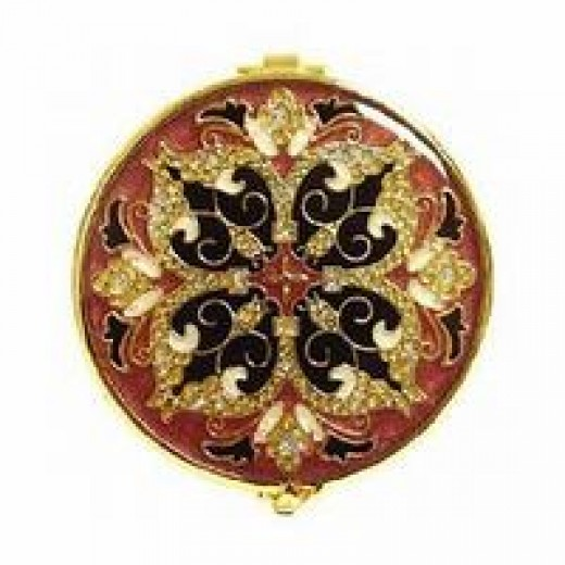 Ornate, classical compact mirrors are priceless