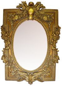 An antique mirror can be worth thousands of dollars at auction!