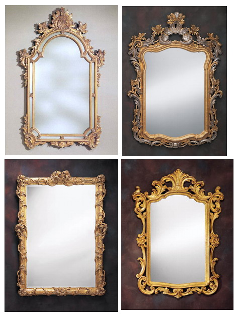 Antique mirrors come in all shapes and sizes