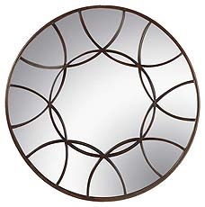 Modern design makes for a stunning round mirror