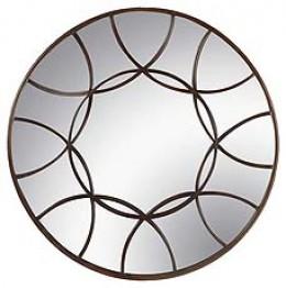 Modern design makes for a stunning round mirror