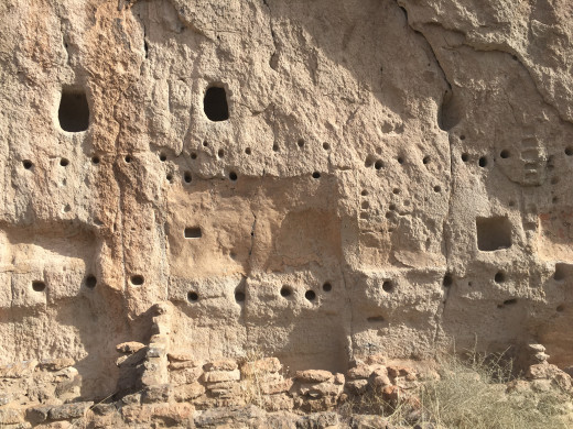 Cliff Dwellings at the Bandelier National Monument.
