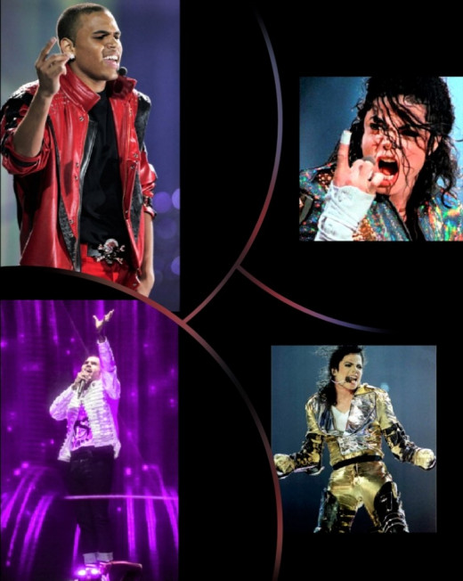 Chris Brown is inspired by Michael Jackson and he is a great entertainer too.