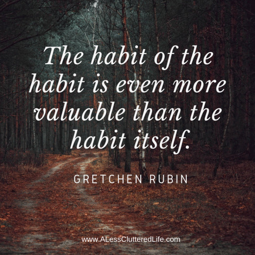 Consistency is more important than the type of good habit you're trying to form.