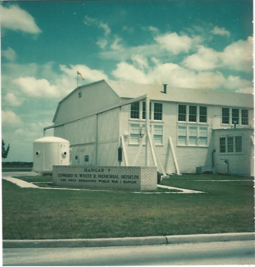 The Edward H. White II Memorial Museum, Brooks AFB, TX.  1977. Named in honor of Lt. Colonel Edward H. White II, who died in the Apollo 1 fire.
