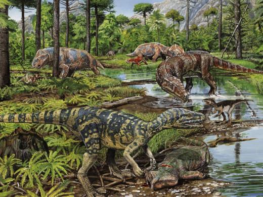 Artistic diagram of Triassic Period