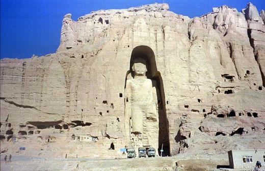 Afghanistan was once home to two enormous statues of Buddha at Bamiyan. They were hewn directly out of the sandstone cliffs nearly one-and-a-half thousand years ago. The larger statue was 180 feet (55 metres) high, while the other was about 60 feet s