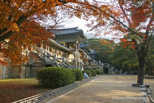 Bulguksa Temple in Autumn