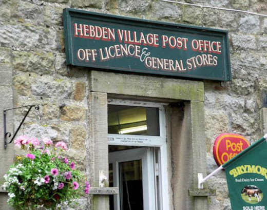 ... not least of which is this village post office-cum off-licence and general store - a lot under one 'umbrella