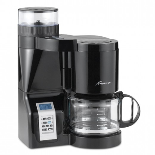 Capresso CoffeeTEAM Luxe 10-Cup Coffee Maker with Conical Burr Grinder