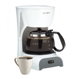 Mr. Coffee DR4 White 4-Cup Switch Coffee Maker