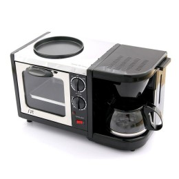 How about a Kitchen In A Single Unit: the SPT 3 in 1 Breakfast Maker Oven Fry Pan 4 Cup Coffee Maker?
