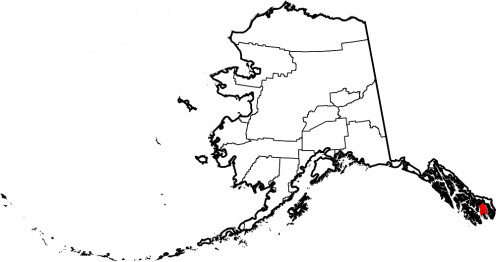 Map location of Ketchikan Gateway Borough, Alaska, United States Source: User:David Benbennick, User:Dbenbenn, public domain, wikimedia.org