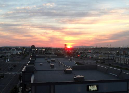 DIX30 / TEN30 from the hotel window