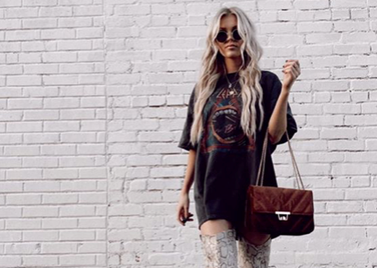 This look is incredibly accessible and because this look is so hot right now, you're likely to find some sort of vintage (or not!) band tee at any retailer you go to.