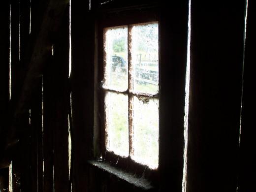 An old barn window circa 1870