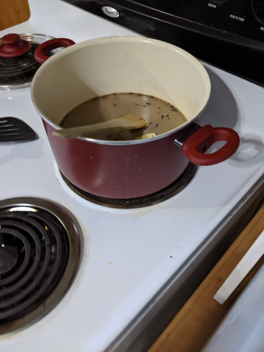 I used my large pan.