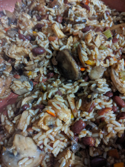 Rice and Mushroom Skillet with Chicken