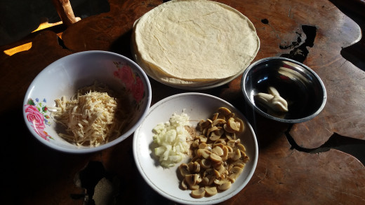 crispy mushroom quesadillas ingredients