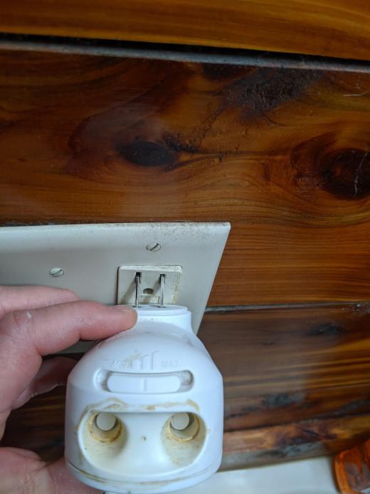 Plug into wall