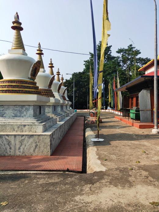 Stupas in Karbandi Monastery