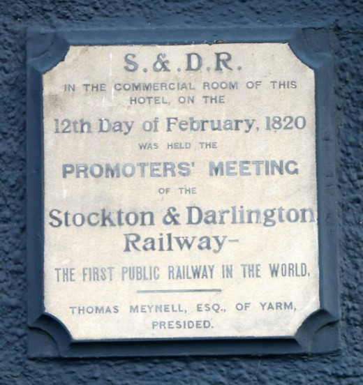 There's a plaque on the wall outside to prove it - 12th February, 1820 promoters of the S&DR met and ate here, did nothing, said little and acxhieved their aim. How? Read on...