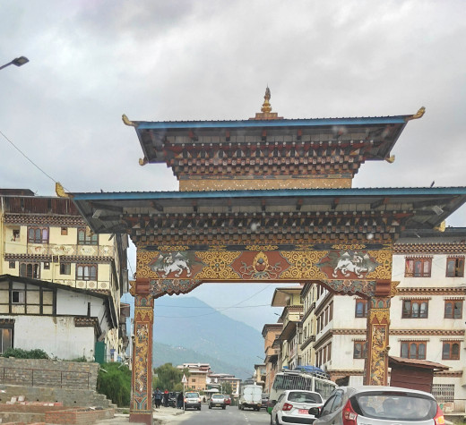A gate within the Thimphu city