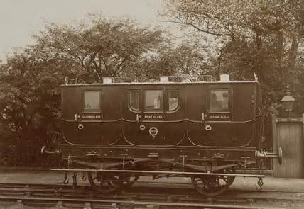 S&DR Horse-drawn passenger carriagwe - only coal and goods were steam-haúled