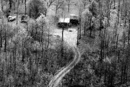 Gene Leroy Hart was arrested by OSBI agents at this property in a remote part of the eastern Cherokee County near Locust Grove on April 6, 1978.