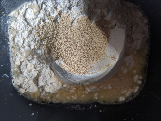 place on top of flour
