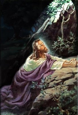 """Luke 22:42 saying, """"Father, if it is Your will, take this cup away from Me; nevertheless not My will, but Yours, be done."""""""