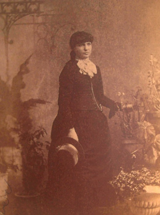 Lottie Bernard--The Lady in Black Lace Dress
