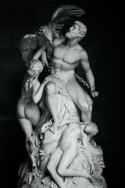 Statue of Prometheus outside Berlin's national gallery.