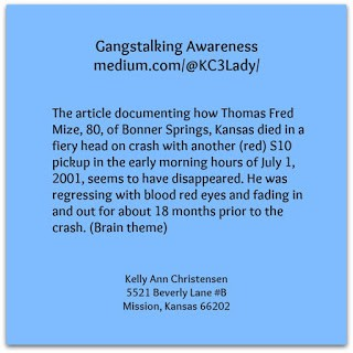 The Death of Thomas Fred Mize. (Kelly no longer at this address).