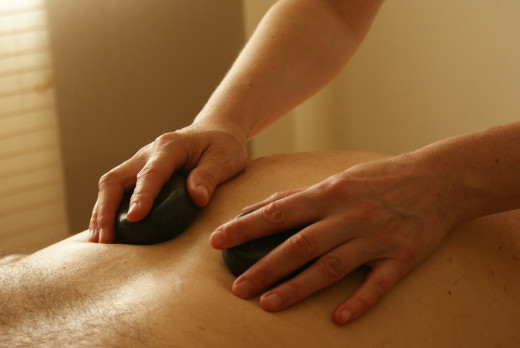A stone massage is perfect for that aching body.