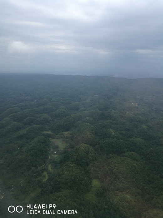 Bohol on a bird's eye view.