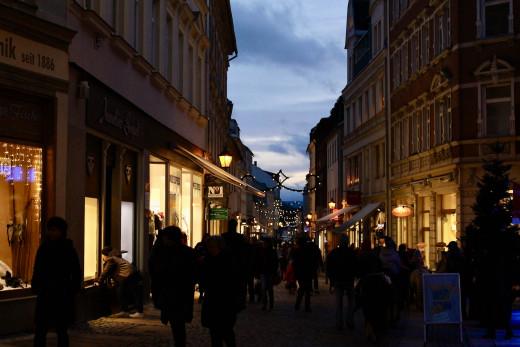 Annaberg looking towards the Weihnachtsmarkt
