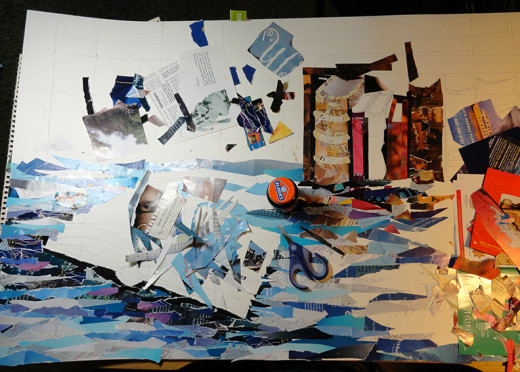 Progress Photo 2 of the collage process
