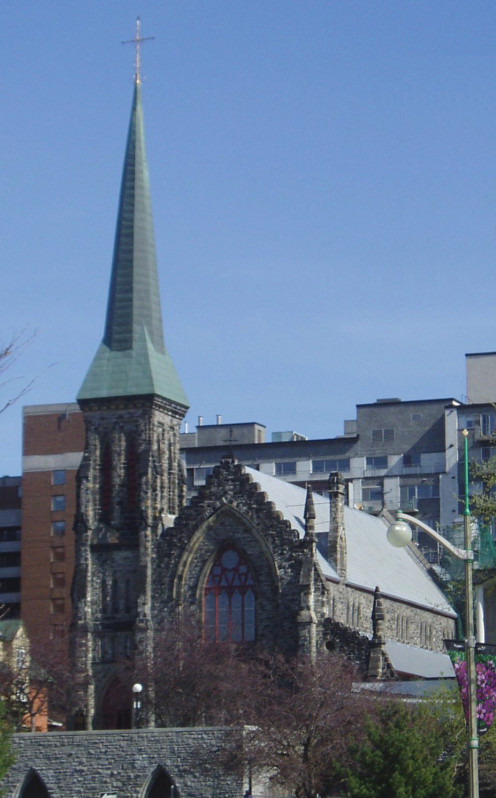 Christ Church Anglican Cathedral in Ottawa at the end of Sparks Street