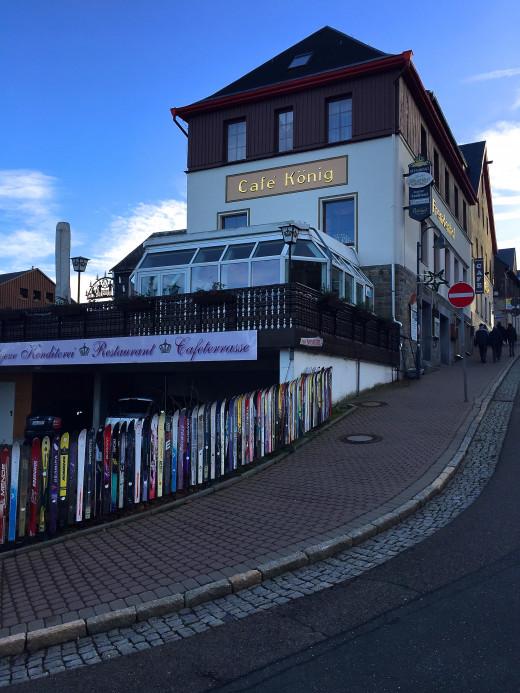 Café König, Oberweisenthal before the snow just after Christmas