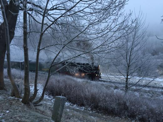 The Fichtelbergbahn steam train